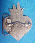 Click to view larger image of Flaming Heart Barbwire Belt Buckle (Image2)
