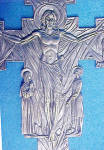 Click to view larger image of Crucifix/Christ Rising Pewter Colored Cross (Image2)