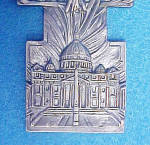 Click to view larger image of Crucifix/Christ Rising Pewter Colored Cross (Image3)