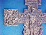 Click to view larger image of Crucifix/Christ Rising Pewter Colored Cross (Image5)