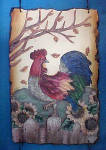 Click to view larger image of Rooster Plaque w/Sunflowers (Image2)