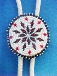 Click here to enlarge image and see more about item AAA615: Native American Beaded Bolo Ties