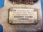 Click to view larger image of Coors Premium Pewter Colored Belt Buckle (Image3)