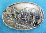 Western Belt Buckle - Long Rider of the West