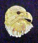 Click here to enlarge image and see more about item AAA625: Metal Eagle's Head Pendant/Charm