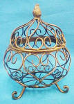 Click to view larger image of Wire Art - Decorative Pot w/Lid (Image1)