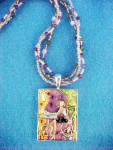 Click to view larger image of Cafe Girl Enameled Necklace (Image2)