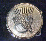 Click to view larger image of Mythical King Silver-Toned Metal Belt Buckle (Image1)