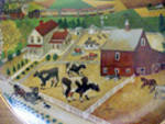 Click to view larger image of American Folk Art - Country Journeys Plate (Image2)