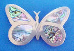 Click here to enlarge image and see more about item AAA642: Butterfly Belt Buckle w/Mother of Pearl