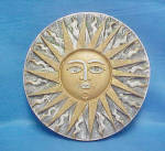 Click here to enlarge image and see more about item AAA643: Ceramic Mexican Sun Plaque Wall Art