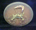 Click to view larger image of Carriage Sculpture - Metal Art on Plaque (Image1)