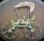 Click to view larger image of Carriage Sculpture - Metal Art on Plaque (Image2)