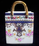 Click to view larger image of Porcelain Tote Featuring Floral Design (Image3)