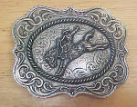 Click to view larger image of Bronco Belt Buckle - Montana Silversmiths (Image1)