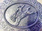 Click to view larger image of Bronco Belt Buckle - Montana Silversmiths (Image2)