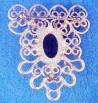 Click to view larger image of Gold-Toned Filigree w/Black Cabochon Pin (Image2)