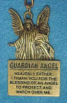 Click here to enlarge image and see more about item AAA667: Guardian Angel Brass Key Chain
