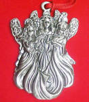Click here to enlarge image and see more about item AAA668: Three Angels - Pewter Mini Ornament