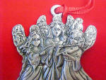 Click to view larger image of Three Angels - Pewter Mini Ornament (Image3)