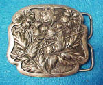 Click to view larger image of Forget-Me-Not Metal Belt Buckle (Image1)