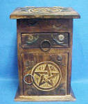 Click here to enlarge image and see more about item AAA722: Western Wooden Box - Podium Style
