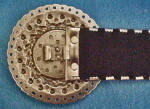 Click to view larger image of Silver Toned Metal Belt w/Jeweled Buckle (Image4)