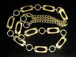 Click here to enlarge image and see more about item AAA724: Gold Toned Link Belt