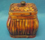 Click to view larger image of Rattan Square Box - Lacquered/Vintage (Image2)