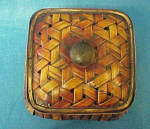 Click to view larger image of Rattan Square Box - Lacquered/Vintage (Image3)