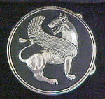 Click to view larger image of Mythical Lion Belt Buckle w/Jewelry Case (Image1)