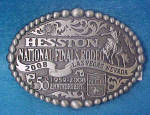 Click here to enlarge image and see more about item AAA739: Hesston Nat'l Final Rodeo 2008 Belt Buckle