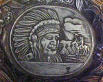 Click to view larger image of Occupied Japan Ashtray - Indian Chief Design (Image2)