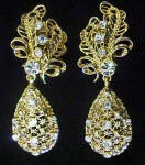 Click to view larger image of Versatile Elegance Dangle Clip Earrings (Image1)
