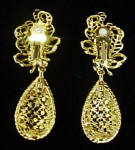 Click to view larger image of Versatile Elegance Dangle Clip Earrings (Image2)