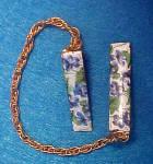 Forget-Me-Nots Enameled Sweater Guard