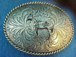 Click to view larger image of Western Horse Belt Buckle (Image1)