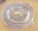 SW Concho Style Metal Belt Buckle