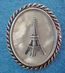 Click here to enlarge image and see more about item AAA777: Eiffel Tower Silver Pin -Vintage