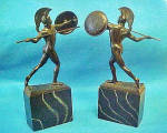 Click here to enlarge image and see more about item AAA784: Greek  Warrior Bookends - Vintage
