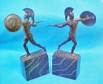 Click to view larger image of Greek  Warrior Bookends - Vintage (Image3)