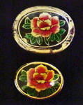 Click to view larger image of Set of 2 Flower Lacquer Stacking Boxes (Image2)