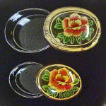 Click to view larger image of Set of 2 Flower Lacquer Stacking Boxes (Image4)
