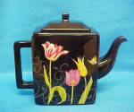 Click here to enlarge image and see more about item AAA795: Nature's Journey Floral Teapot - Signed