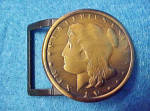 Ancient Coin Style Belt Buckle - Vintage