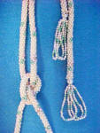 Click to view larger image of Beaded Flapper Lariat Necklace - Floral  (Image2)