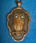 Click to view larger image of Owl Pendant w/Chain - Copper (Image2)