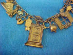 Click to view larger image of Vintage Piddle Links Charm Necklace (Image2)