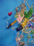 Click here to enlarge image and see more about item AAA855: Fanciful Fairy Wire & Glass Marbles Ornament