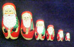 Click to view larger image of Santa Nesting Dolls - Six Wooden Santas (Image2)